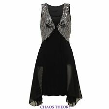 Ladies Womens Sexy Sparkly Sequin Dipped Cocktail Evening Party Maxi Dress
