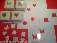 Martha Stewart PUNCH ALL OVER THE PAGE CRAFT PAPER PUNCHES Buy all 4 or Just 1!