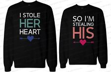Couple Sweaters - Matching Couple Sweatshirts - Stealing Hearts Pullovers