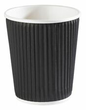 8oz Black Ripple Cups **choose quantity**