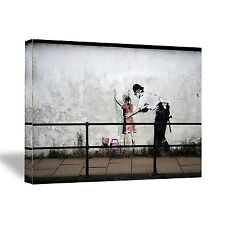 Banksy Stop And Frisk Grafitti Poster Print On Canvas Art