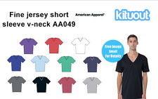 American Apparel Mens Unisex Fine Jersey Short sleeve V Neck  T-Shirt AA049 New