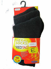 BOYS ACRYLIC BLACK REDTAG THERMAL SOCKS