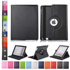 Leather 360 Degree Rotating Smart Stand Case Cover For iPad 2 iPad 3 New iPad 4