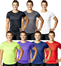 Womens Gym T Shirt Ladies Fitness Top Sports Exercise Tee Running Active Wear