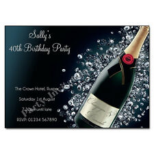 Personalised BIRTHDAY PARTY Invitations 18th 21st 30th 40th 50th 60th Invites