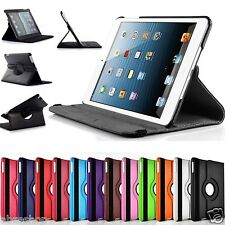 360° Degree Rotating Leather Fold Stand Smart Case Cover for Apple iPad MINI 2/3