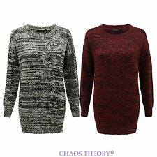 Brave Soul Ladies Cable Knitted Jumper Womens Full Sleeves Long Sweater Top