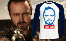 Breaking Bad Jesse Pinkman Walter White Bitch Men T Shirt Ringer Long Sleeve New