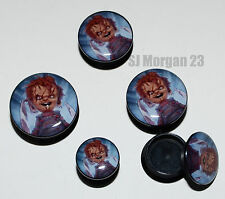 Evil Chucky Childs Play Ear Ring Stud Stretcher Plug. 6mm to 24mm