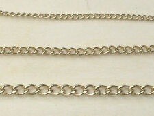 "9ct Gold Plated 925 Sterling Silver Bracelet Necklace Anklet Curb Chain 6"" - 24"""
