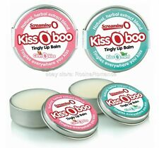 Screaming O KissOBoo Tingly Oral Sex Pleasure Lip Balm Cinnamon or Mint Flavour
