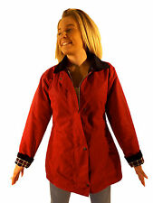 Campbell Cooper New Ladies Fitted Wax Cotton Collared Jacket Red 8 10 12 14 16