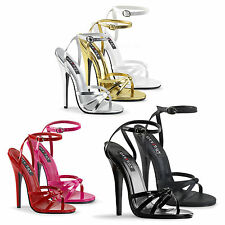 DEVIOUS By Pleaser - Domina-108 Strappy Ankle Wrap Sandal - NEW COLOURS