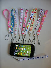 A Funky Handmade Wrist Strap Lanyard For MP3 MP4 Camera Mobile Phone USB 15cm