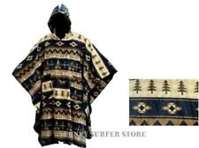 MENS WOMENS HOODED FLEECE AZTEC PONCHO CAPE COAT FESTIVAL SURF CHANGING ROBE