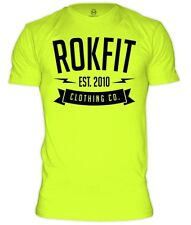 RokFit Clothing Co. T-Shirt Neon Yellow Cross Training Fitness