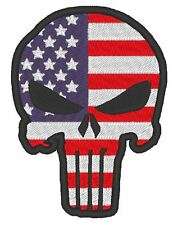 AIRSOFT / MILITARY MORALE PATCH PUNISHER WITH CHOICE OF FLAG BACKGROUND