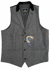 Hombre Marc Darcy Tweed JO Ronny Moderno Chaleco - Gris