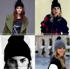 Women Girl Retro Sexy Ski knit veil Mesh Net Hats Winter Warm Beanie Cap