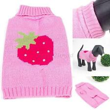 Lovely Winter Doggie Coat Jumper Sweater Small Dog Puppy Pet Knit Clothes XS-XL
