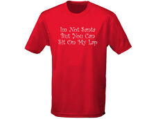 Not Santa Sit On My Lap Christmas Funny Mens T-Shirt (12 Colours)