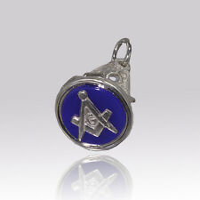 Solid Silver Hallmarked Masonic Seal Pendant Fob