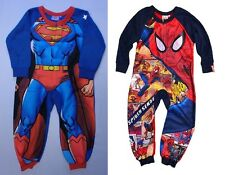 Boys Kids Official Spiderman Superman Onesie Fleece Pyjamas Xmas Age 1 2 3 4 5