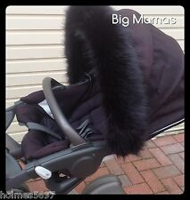 Custom Made -Xplory- Crusi- Trailz- Luxury FUR HOOD TRIM -all versions -Stokke