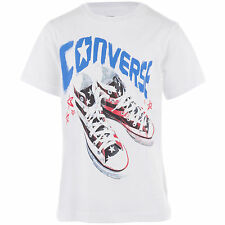Junior nourrisson CONVERSE BOTTES Logo T-Shirt 863411 3 à 7 ans - Blanc