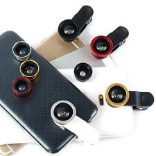 For Samsung Moblie Phone 3in1 Fisheye + Wide Angle + Macro Camera Clip Lens C65