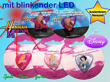 blinkender Pin Disney Princess Anstecker o. Hannah Montana Anstecker / Blink LED
