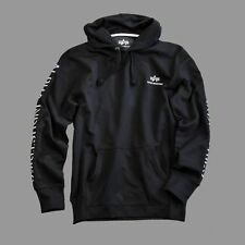 Alpha Industries - Track II Hoody - black/white