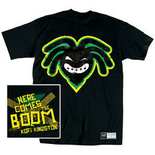 WWE KOFI KINGSTON HERE COMES THE BOOM T-SHIRT OFFICIAL NEW (SIZE X-LARGE)
