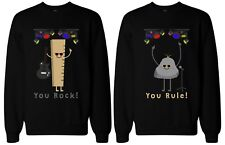 Funny Best Friend Sweaters - You Rock and Rule BFF Matching Sweatshirts