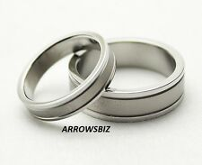 Men Women Couple Wedding Engagement 316L Stainless Steel Silver Rings Size 4 -12