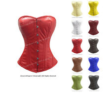 Heavy Duty 26 Double Steel Boned Leather Waist Training Overbust Corset #9970-DB