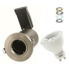 4 X LED RECESSED CEILING SPOTLIGHT FIRE RATED LED DOWNLIGHT GU10 5W 7W DIMMABLE