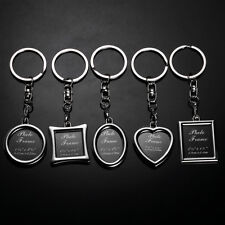 Photo Frame Keychain Key Chain Ring Fashion GIFT CIRCLE OVAL LOVE APPLE RECTANGL