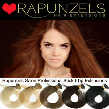 "25-250 Stick Tip, i Tip remy human hair extensions 18"" AAA micro ring pre bonded"