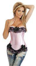 Ladies Sexy Basque Lace Lingerie Corset Underwear Dress Size 10 12 14