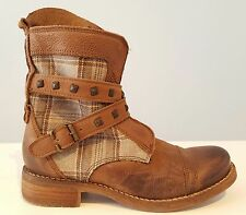 Kurzboots Leder/Stoff  ReziClass(Gino Vaello)/made in Spain   braun  Gr. 37 - 40