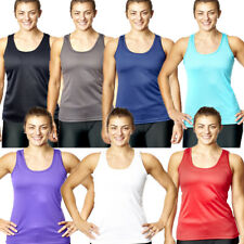 Womens Fitness Tank Top Running Vest Ladies Casual Gym Sleeveless Sports Shirt