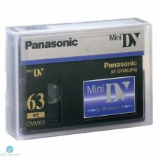 Panasonic Mini DV Tape AY-DVM63PQ Professional Quality 63min - UK NEW Genuine