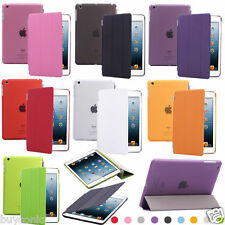 Slim Leather Smart Cover Hard Back Case For Apple iPad Air 2 Smart Cover Case