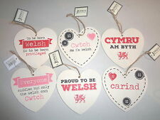 Wooden Heart Shaped Wall Plaques  - Welsh, Cwtch, cariad etc