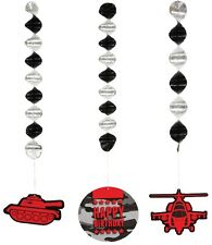 Operation Camo | Camouflage | Army Party Hanging Swirl Decorations 1-18pk