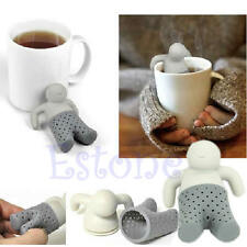 SILICONE TEA INFUSER LOOSE TEA LEAF STRAINER HERBAL SPICE FILTER DIFFUSER NEW
