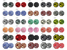 MG TF LE500 Style Front & Rear Insert Badges, Decal, Adhesive