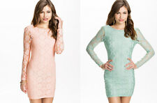 Ladies Lace Sexy Bodycon Top Dresses Party Cocktail Tunic Dress Size 8 10 12